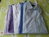 "M&S 17"" smart shirts x5 short and long sleeve"