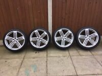 VW SCIROCCO TALLADEGA 19 INCH ALLOY WHEELS WITH TYRES X4 *CADDY/PASSAT/GOLF R