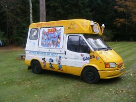 1999 Ford Transit Ice Cream Van, Brockfield Conversion, Coldelite machine, Ready For Work