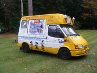 1999 Ford Transit Ice Cream Van, Brockfield Conversion, Coldelite machine, Ready For Work
