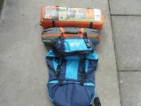 Two brand new 2 man tents, new rucksac and sleeping bag.