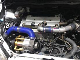 BREAKING Honda Civic EP3 Rotrex LSD Tein DTA S60PRO Championship White K20a2