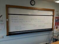 Retro roller whiteboard