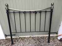 Black and brass effect double bed frame
