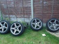 "Mercades 18"" alloy wheels"