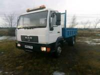 Man 7.5tonne tipper lorry long mot