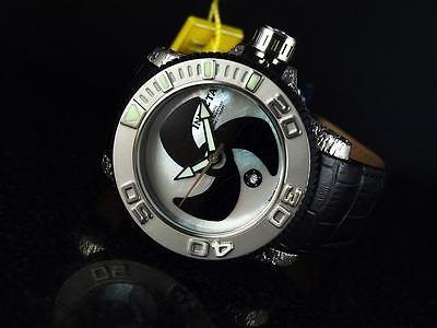 Invicta Men's Sea Hunter Sw200 Automatic White Mop Black Mosaic Dial Watch-RARE