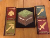 Set of 5 Minecraft books excellent condition