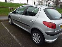 Silver Peugeot 206 Diesel 2L HDi Car for sale