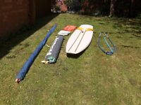 14ft. Sailboard, boom, mast and 3 sails