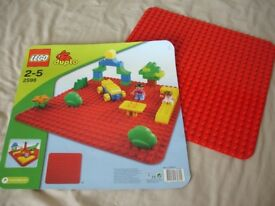 Lego Duplo Red Base Plate 2598 Construction Toy