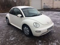 2004 vw beetle in white 1 YEARS MOT 1 OWNER FROM NEW £795 PX WELCOME