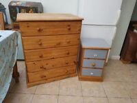 Hayes of bath soild pine chest draws bedroom set .both are made of real quality solid pine