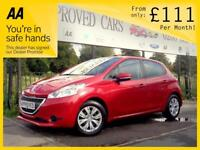 PEUGEOT 208 1.2 ACCESS PLUS 5d 82 BHP Choice of 5! Low mileage (red) 2015