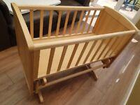 Mothercare gliding crib - good condition (no mattress included)