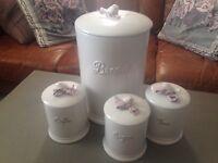 Vintage style kitchen storage jars