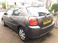 toyota corolla, 2004, petrol 1.4, tax and mot ready to drive, good condition good tyries
