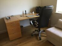 Hulsta Desk, Beech, Good Condition