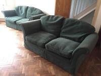 2 x Quality Sofas, bit worn - FREE!