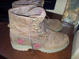 Timberland boots.