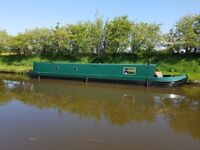 50ft Narrow Boat for sale, semi traditional hull with Beta engine. Comes with private secure mooring