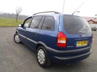 Vauxhall zafira 1.8 7 seater mint