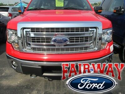 09 10 11 12 13 14 F-150 OEM Genuine Ford Parts XLT Chrome Grille with Emblem NEW