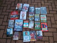 A BUNDLE OF FOOTBALL BOOKS FOR SALE ** CHRISTMAS PRESENT ?? **
