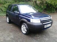 2003 LAND ROVER FREELANDER SERENGETTI 1.8 SE 3DR 85000 MLS 1 YRS MOT