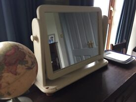 Painted pine dressing table/ sideboard mirror