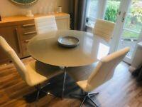 Dwell Ripple White Dinning Chairs x4