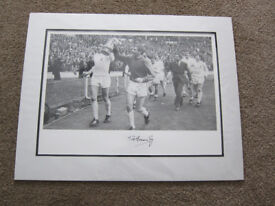 Pat Jennings Spurs / Tottenham Hotspur FA Cup win 1967 large authentic autographed picture with COA