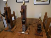 Vintage style table lamp bases