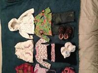 Clean, unmarked baby clothes 6-12 months