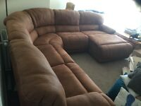 This corner sofa is massive and the most comfy couch I've ever had. Only selling as we are moving.