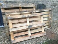 3 wooden pallets, assorted sizes - free to collector