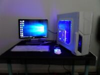"custom gaming pc with 19"" hp widescreen monitor"