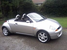 FORD STREET KA 1-6 CONVERTIBLE 2005. 80,000 MILES, FULL SERVICE HISTORY, NOVEMBER 26th 2017 MOT.