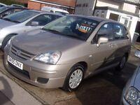 2005 SUZUKI LIANA GL AMAZING CAR WITH VERY LOW MILES 55 K 1.6 PETROL IDEAL FAMILY CAR FULL HISTORY