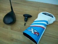 LADIES CALLAWAY XR DRIVER , HEADCOVER AND WRENCH FOR ADJUSTING HEAD LOFT