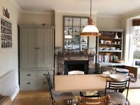 SOLD Handmade kitchen larder in farrow and ball
