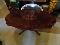 Italian Inlaid Coffee Table 47in x 27in x 20in high. Lovely condition No damage.