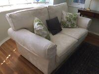 Multiyork 2 seater sofa in pale cream upholstery