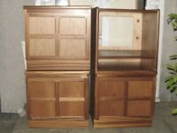3 X Light Brown Cabinets