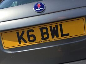 Private number plate K6BWL