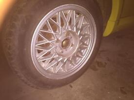 14 inch BMW,vw, vaux bbs alloys , rare 4x100