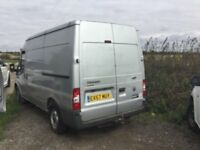 SPARES OR REPAIR DRIVEAWAY 2007 FORD TRANSIT MEDIUM WHEELBASE SEMI HIGH TOP TOW BAR SMOKEY ENGINE