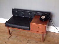 Mid-Century Retro Vintage Original Chippy Telephone Seat