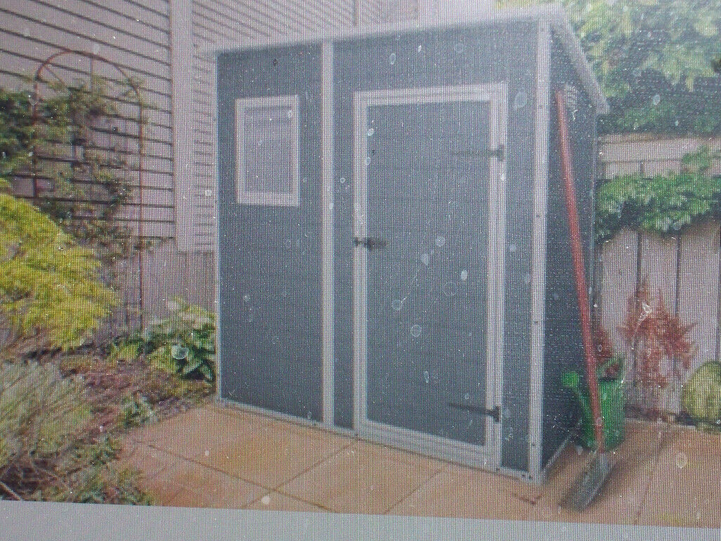 KETER PLASTIC GARDEN SHED 6-4 NEW BOXED