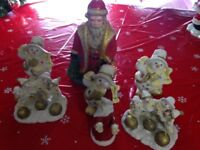 Make it YOUR Best Christmas Ever Santa & Snowmen Ornament Set See Photo Lot.02